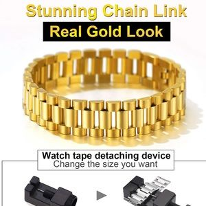 ChainsPro , Chunky Cool Mens Wristband Bracelet,